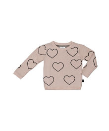 Huxbaby - Heart Knit Jumper, Petal