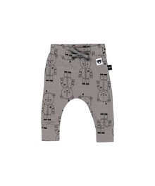 Huxbaby - Robo Bear Drop Crotch Pant, Stone