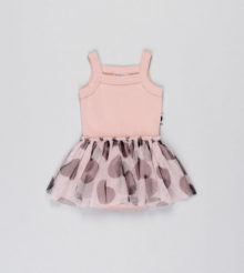 Huxbaby - Summer Ballet Onesie, Rose Dust