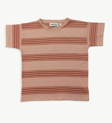 Main story - Wide tee jaqcuard stripe, misty rose