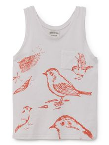 Bobo Choses - Tank top birds, offwhite