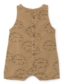 Bobo Choses - Baby Clouds Playsuit, muted clay