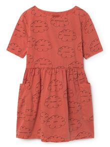 Bobo Choses - Clouds Pockets Dress, red