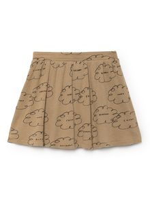 Bobo Choses - Clouds Skater Skirt, muted clay