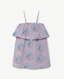 TAO - Dove Kids dress, lavand dogs