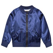Tao and friends - Flamingo bomber jacket, dk blue