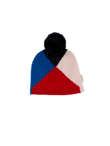 Tinycottons - Geometric beanie, red/blue