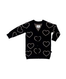 Huxbaby - Heart Knit Cardi, Black