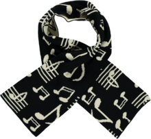 Beau LOves - Knit scarf music, black