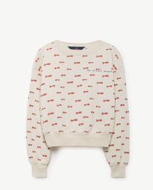 TAO - Bear kids sweatshirt, raw white nose man