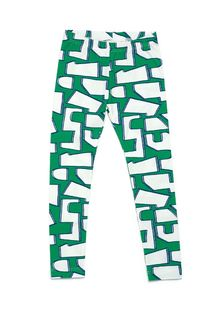 Mainio - Puzzle leggings, green