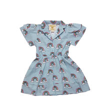 Hugo loves Tiki - Petal Sleeve Dress, Blue Rainbows