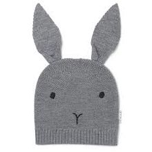 Liewood - Viggo knit hat rabbit, grey melange