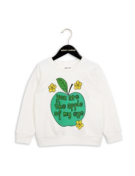 mini rodini - Apple SP sweatshirt, white