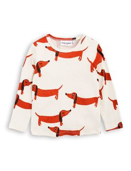 mini rodini - Dogs LS tee, off white