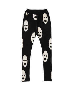 Beau LOves - Knit slim pants ghosts, jet black