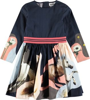 Molo kids - Christin dress LS, Northern Horse Spirit
