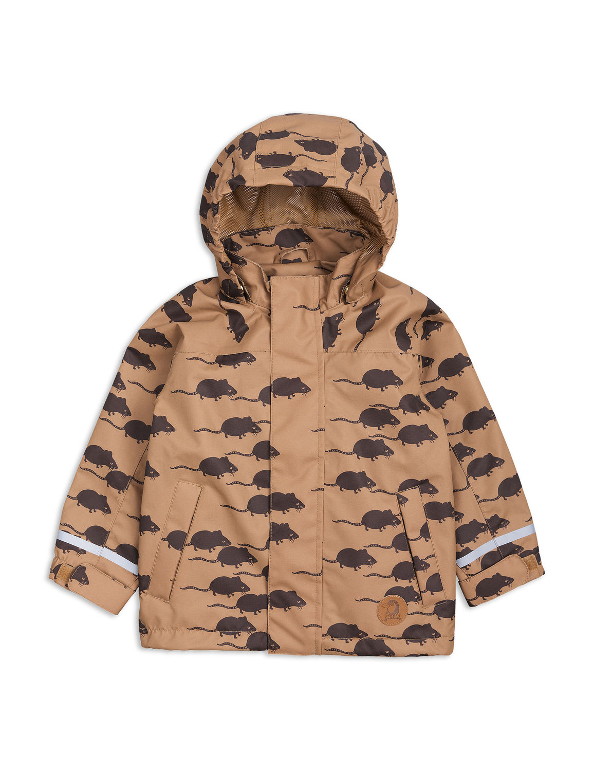 Mini Rodini Edelweiss mouse shell jacket, Brown