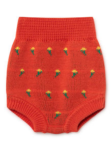 Bobo Choses - Flowers Knitted Culotte, Red (119222)