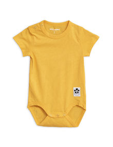 Mini Rodini - Solid cotton ss body, Yellow