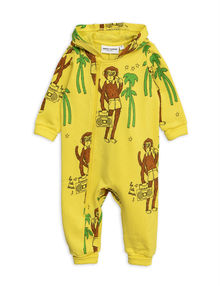 Mini Rodini - Cool monkeys aop onesie, Yellow