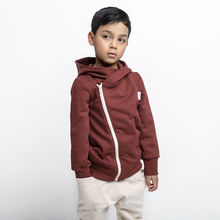 Gugguu - College hoodie, Bark brown / Light fog
