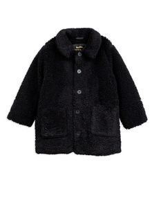 Mini rodini - Faux fur jacket, black