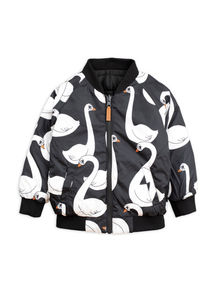 Mini rodini - Swan insulator jacket, black