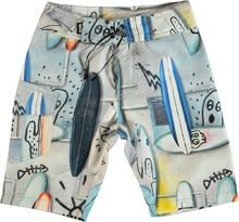 Molo Kids - Nalvaro swim shorts UV50+, Summer Walls