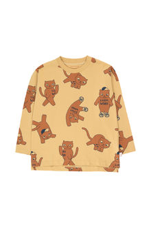 Tinycottons - CATS LS TEE, sand/brown