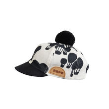 Papu - LINEN CAP Balloon + Solid, Ice cream / Black