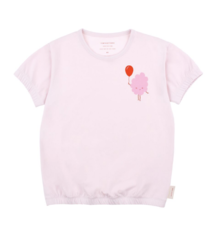 Tinycottons - CANDY FLOSS SS BAGGY TEE - Pearl / Pink