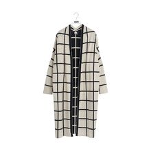 Papu - KNIT LONG CARDIGAN GIANT GRID