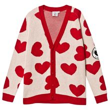 Beau LOves - Knit cardigan hearts jacquard