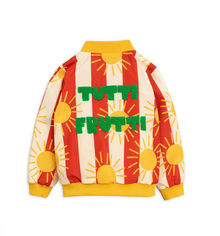 Mini Rodini - Sun stripe baseball jacket, Red
