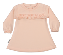 Metsola - Mini frilla dress, peach