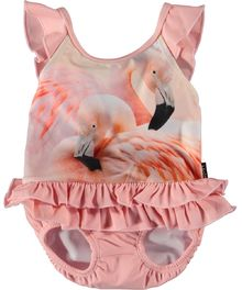 Molo Kids - Nalani swimsuit UV 50+, Flamingo Dream