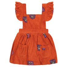 Hugo loves Tiki - Terry Ruffle Play Dress, red raspberry