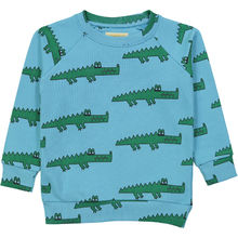 Hugo loves Tiki - Sweatshirt blue crocodile, blue