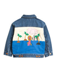 Mini Rodini - Seamonster denim Jacket, Blue