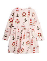 Mini Rodini - Lighthouse aop ls dress, Pink