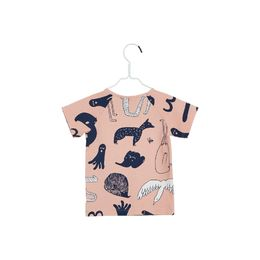 Papu - Animal world t-shirt, worm pink