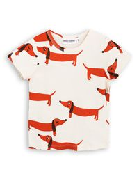 mini rodini - Dog SS tee, off white