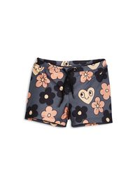 mini rodini - Flower swimpants, grey