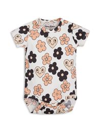 mini rodini - Flowers SS body, off white