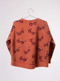 Bobo Choses - Sweatshirt impossible glasses AO, orange