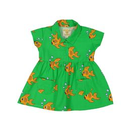 Hugo loves Tiki - Collared Pocket Dress, Green Fish