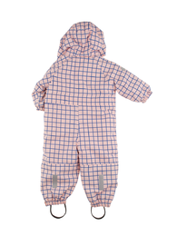 Tinycottons - Grid snow overall, pale pink
