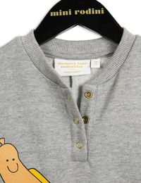 mini rodini// Memory lane - Hot dog SP onesie, grey mel