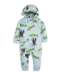 mini rodini - Insects onesie, lt blue